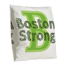 Boston Strong Burlap Throw Pillow