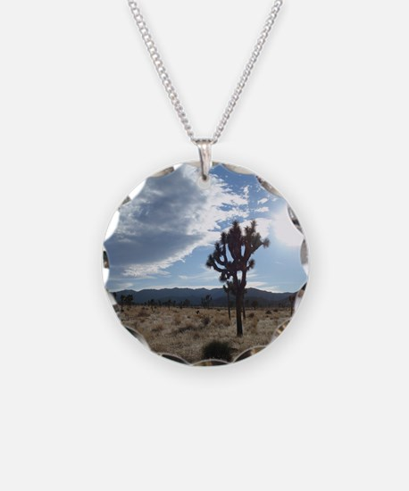 Joshua Tree Necklace Circle Charm