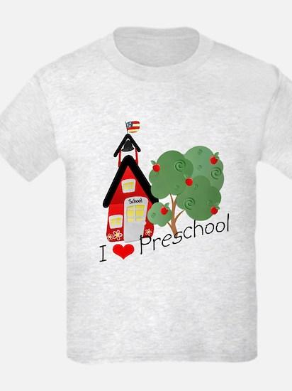 I Love Preschool T-Shirt