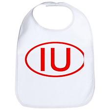 IU Oval (Red) Bib