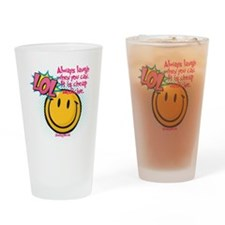 lol smiley Drinking Glass