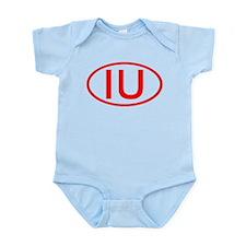 IU Oval (Red) Infant Bodysuit