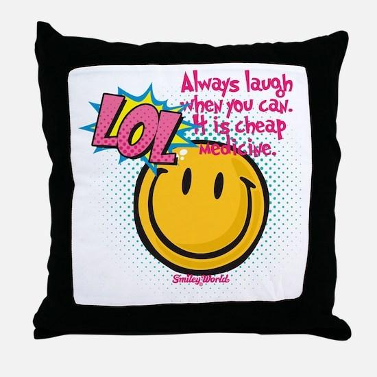 lol smiley Throw Pillow
