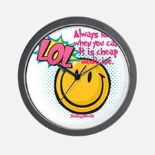 lol smiley Wall Clock