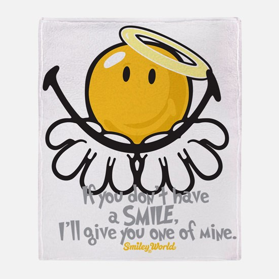 offering smiley Throw Blanket