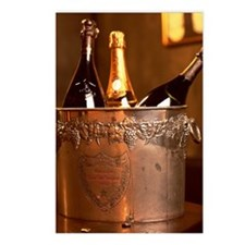 Bucket of Champagne Postcards (Package of 8)