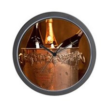 Bucket of Champagne Wall Clock