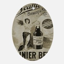 Ranier Beer Oval Ornament