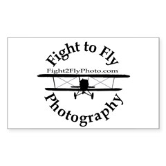 Fight to Fly Logo Rectangle Decal