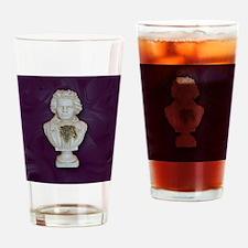 BeethovenonPurple Drinking Glass