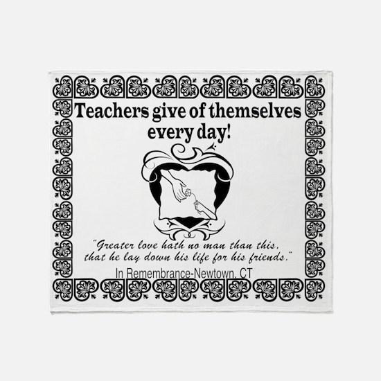 Thank Teachers Remember Newtown MSPD Throw Blanket