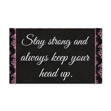 Stay Strong Rectangle Car Magnet