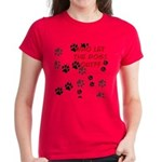 Dog Paws Women's Dark T-Shirt