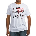 Dog Paws Fitted T-Shirt