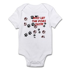 Dog Paws Infant Bodysuit