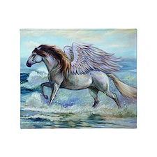 Pegasus Oceanus Throw Blanket