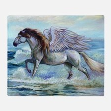 Pegasus Oceanus Throw Blanket