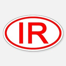 IR Oval (Red) Oval Decal