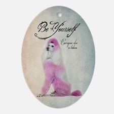Be Yourself Oval Ornament