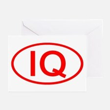 IQ Oval (Red) Greeting Cards (Pk of 10)