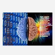 Left Right Brain Postcards (Package of 8)