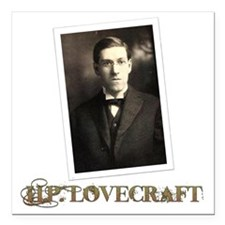 "HP Lovecraft Square Car Magnet 3"" x 3"""