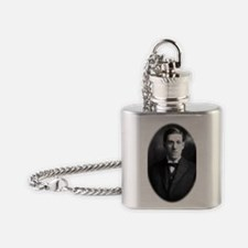 HP Lovecraft Small Round Flask Necklace