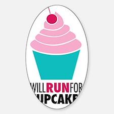 Cupcake RUnner Sticker (Oval)