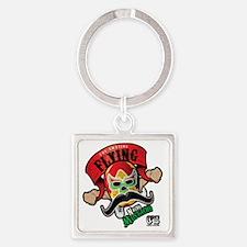 Cheststache Nacho Mustacho T-Shirt Square Keychain