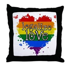 Legalize Love Throw Pillow