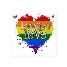 """Legalize Love Square Sticker 3"""" x 3"""""""