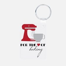 For The Love Of Baking Aluminum Photo Keychain