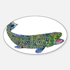 Wild Trout Sticker (Oval)