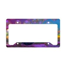Compassion, Abstract Violet G License Plate Holder