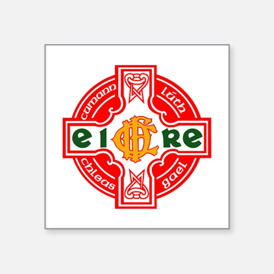 "CFD Gaelic Football Logo R Square Sticker 3"" x 3"""