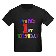 1st Birthday Kids Dark T-Shirt