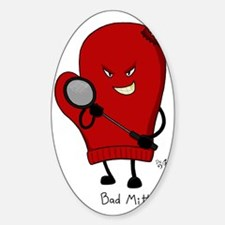Bad Mitten (Badminton) Sticker (Oval)