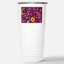 Hippie Purple Rainbow F Stainless Steel Travel Mug