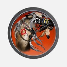 THROW BLANKET War Horseb Wall Clock