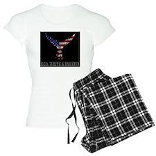 tunatailsquareredwhiteandlb Pajamas