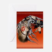 THROW BLANKET War Horseb Greeting Card