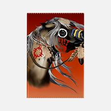 THROW BLANKET War Horseb Rectangle Magnet
