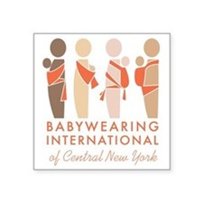 "Babywearing International o Square Sticker 3"" x 3"""
