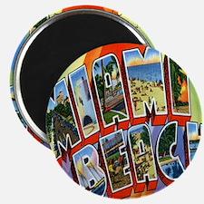 Vintage Miami Beach Postcard Magnet