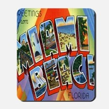 Vintage Miami Beach Postcard Mousepad