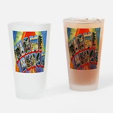 Vintage Miami Beach Postcard Drinking Glass