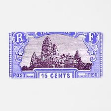 Antique 1927 Cambodia Angko Aluminum License Plate