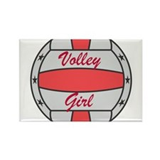 Volley Girl Rectangle Magnet