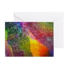 colored brocade Greeting Card