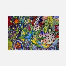 cool Paisley Rectangle Magnet